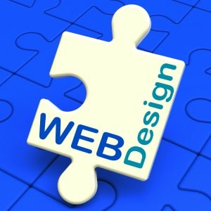 Web Design Showing Online Graphic Web-site Designing
